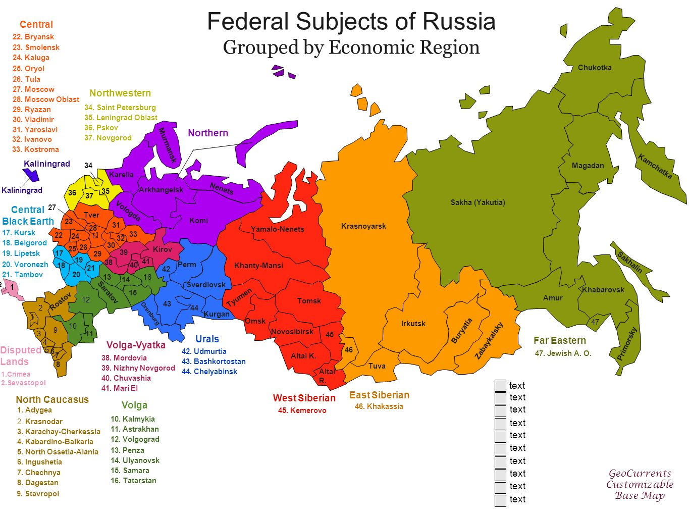 Subjects Of The Russian 37