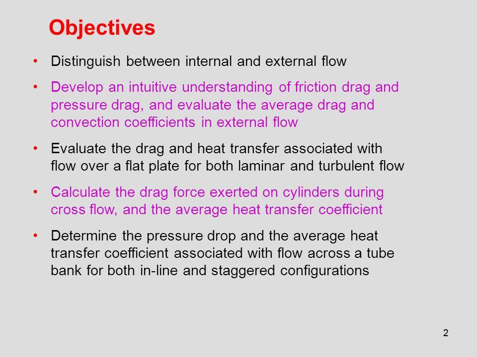 Objectives Distinguish between internal and external flow