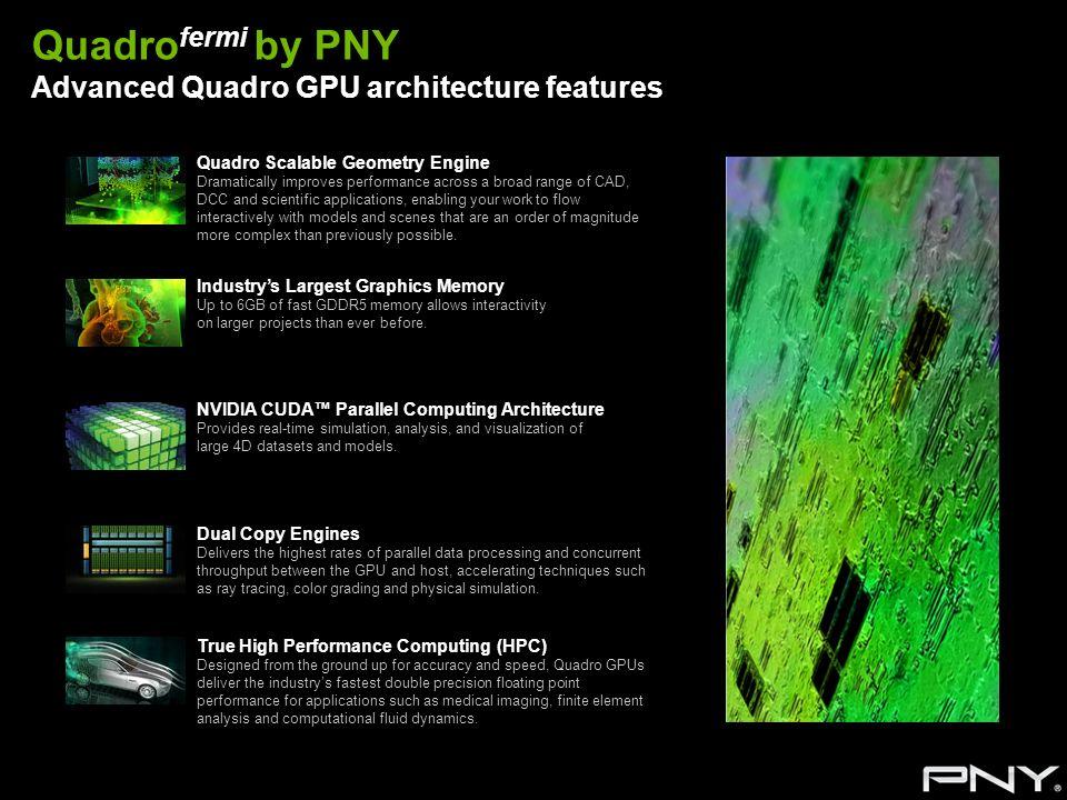 Quadrofermi by PNY Advanced Quadro GPU architecture features