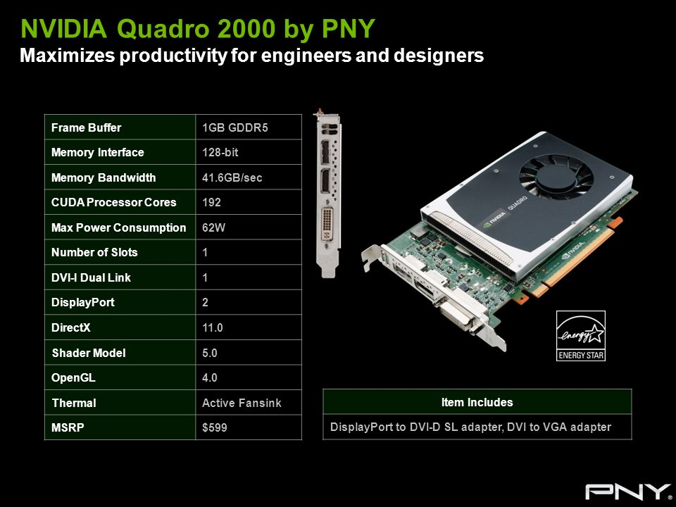 NVIDIA Quadro 2000 by PNY Maximizes productivity for engineers and designers