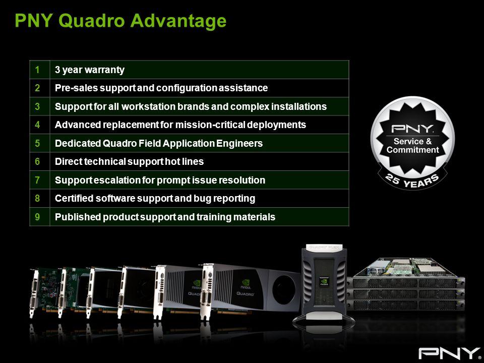 PNY Quadro Advantage 1 3 year warranty 2