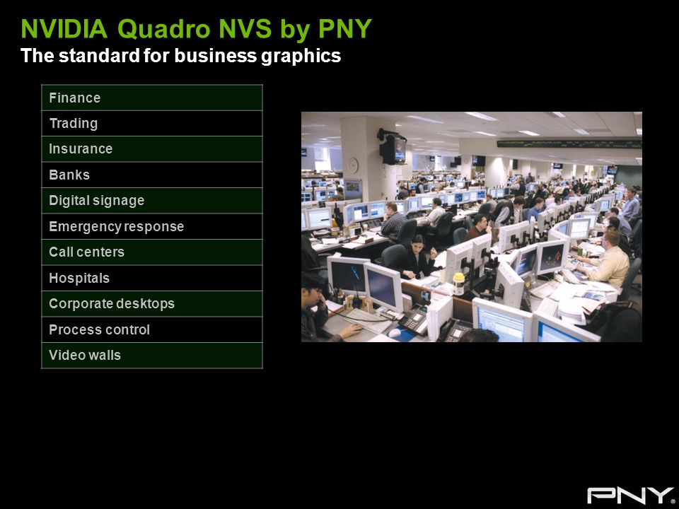 NVIDIA Quadro NVS by PNY The standard for business graphics