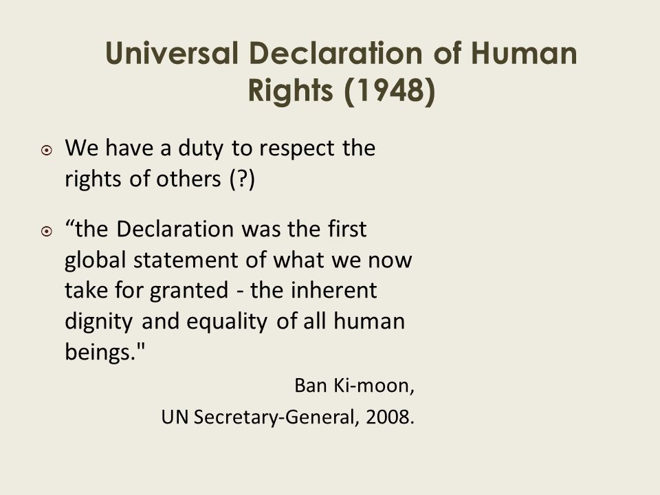 Values, Self & Knowledge: Lecture 4 - ppt download Universal Declaration Of Human Rights 1948