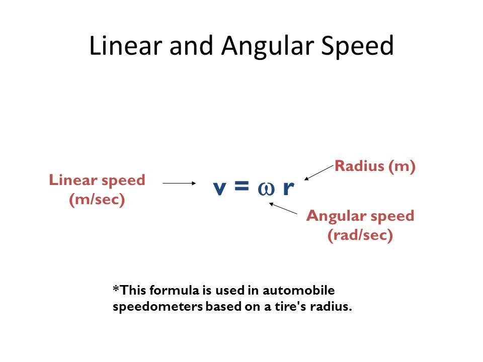 Centrifugal and Centri... Angular Velocity Equation