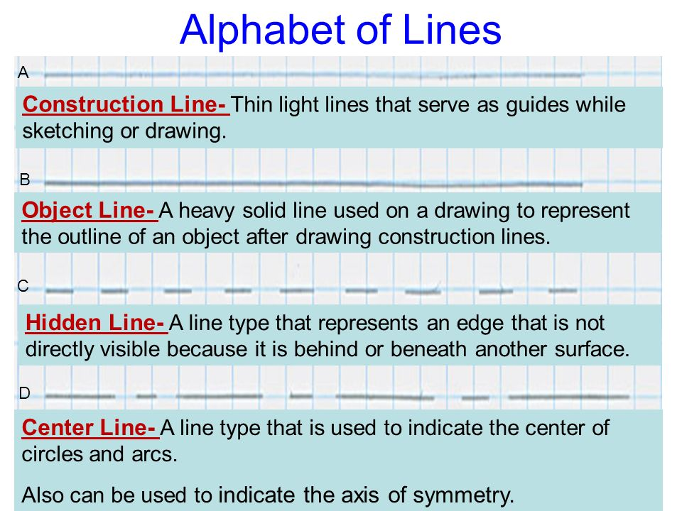 Lines Are Used In Art To Indicate : Lesson sketching and dimensioning techniques ppt download