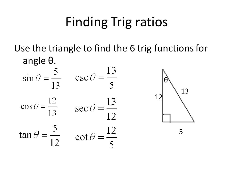 13.1 Right Triangle Trigonometry - ppt video online download