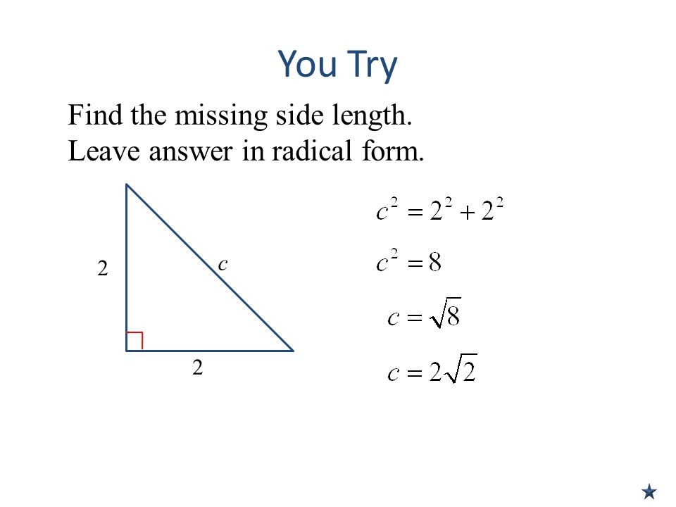 Unit 6 Lesson 3 Special Right Triangles - ppt download