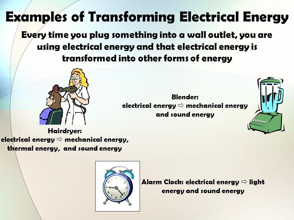 Identify all the forms of energy you see in the picture below examples of transforming electrical energy sciox Image collections