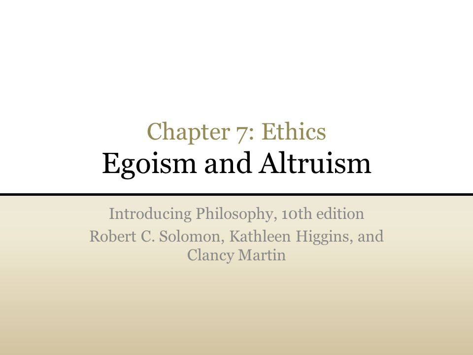 an ethical perspective of altruism
