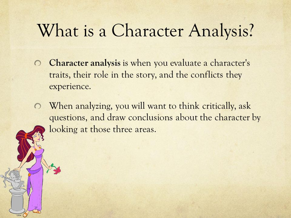 writing a character analysis essay ppt  what is a character analysis