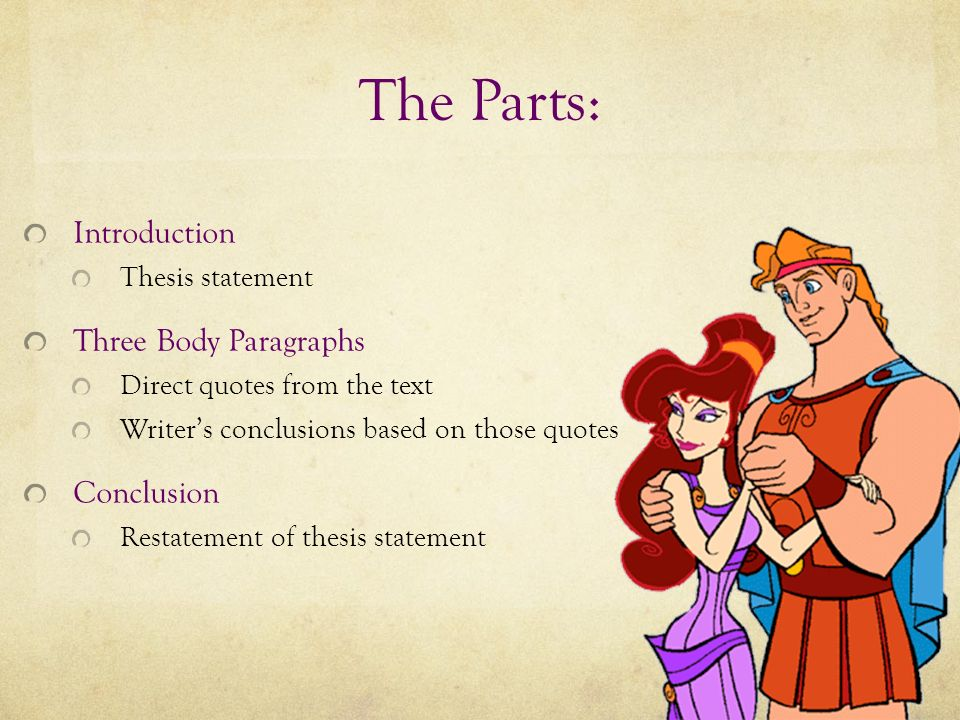 how to write a character analysis essay ppt