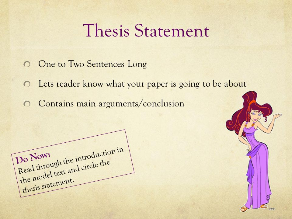 thesis how long