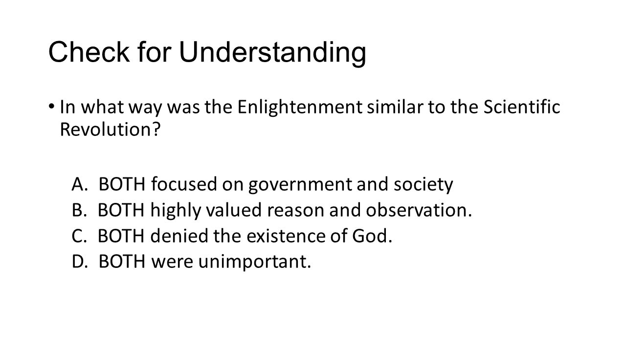 Age of reason httpsyoutubewatchvcp8kf3pfq8 ppt 17 check for understanding in what way was the enlightenment similar to the scientific revolution robcynllc Gallery