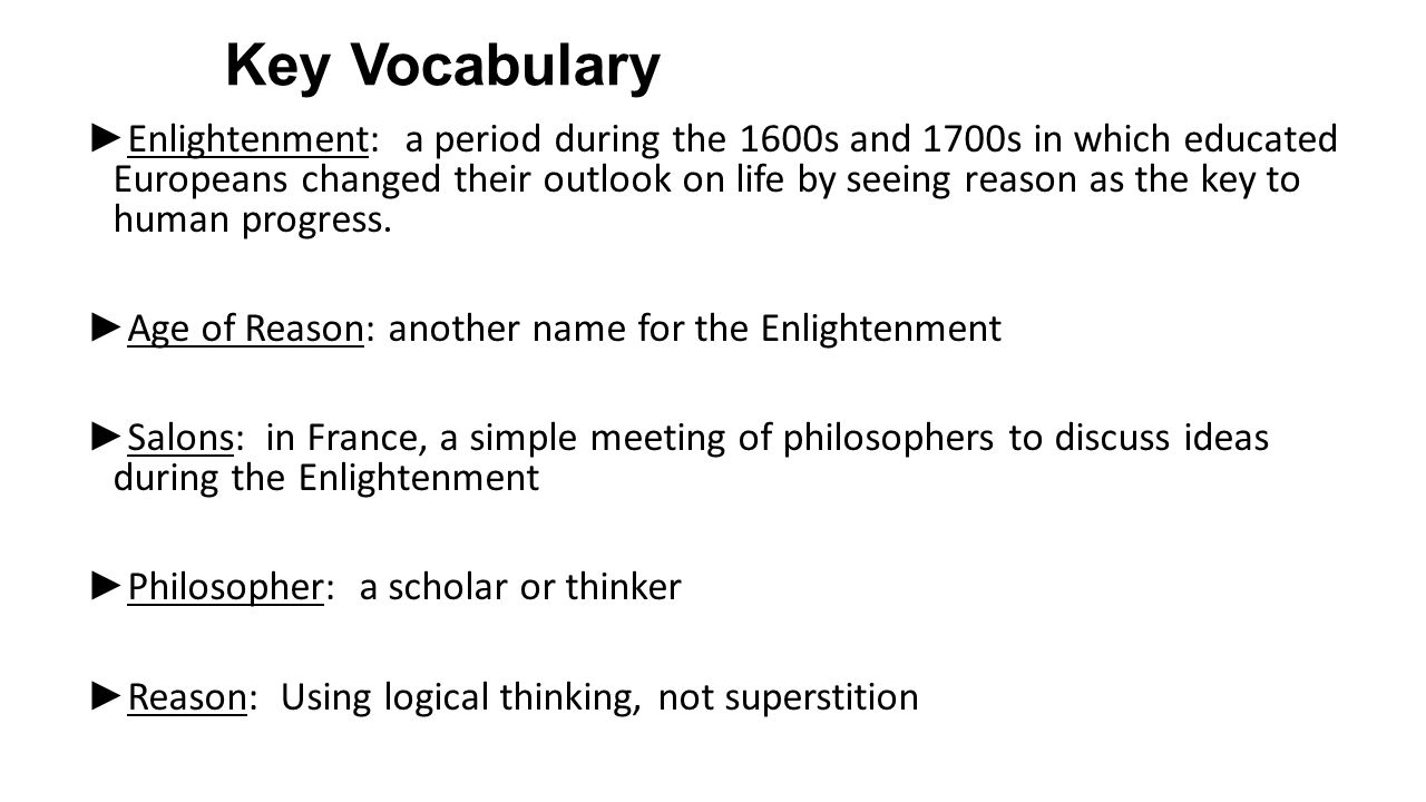 the concept of enlightenment during the enlightenment period