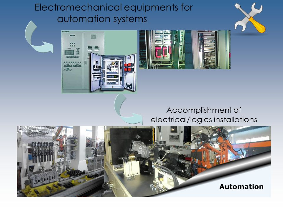 Electromechanical equipments for automation systems