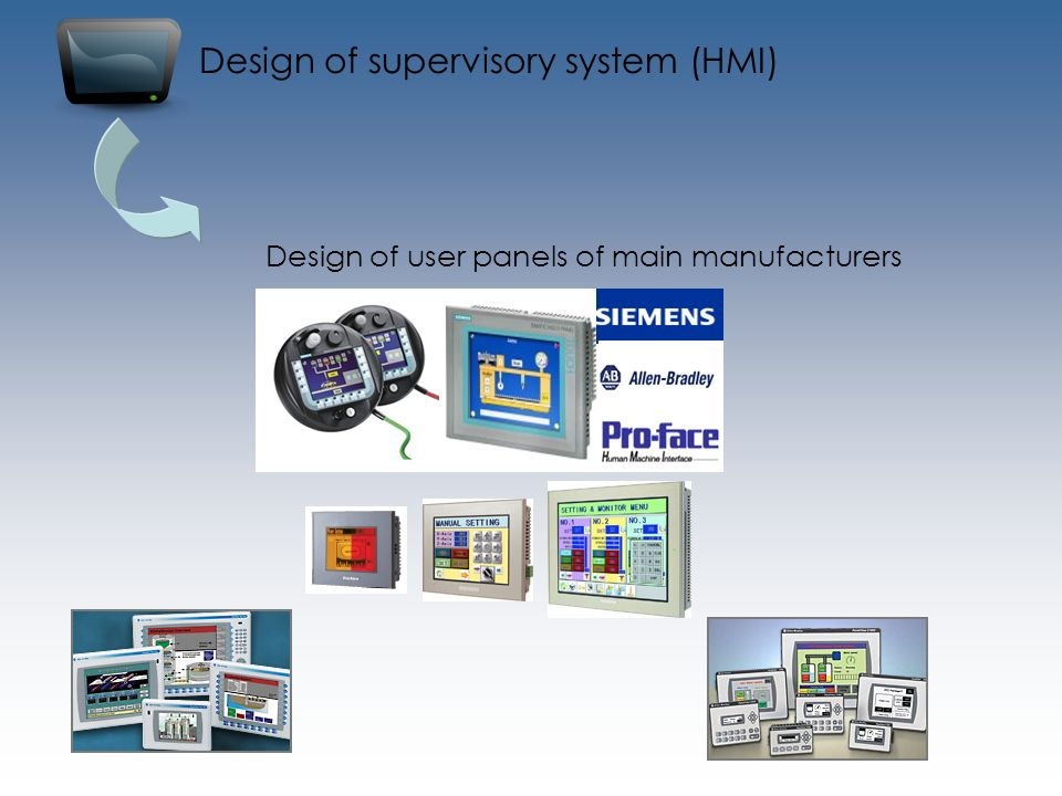 Design of supervisory system (HMI)
