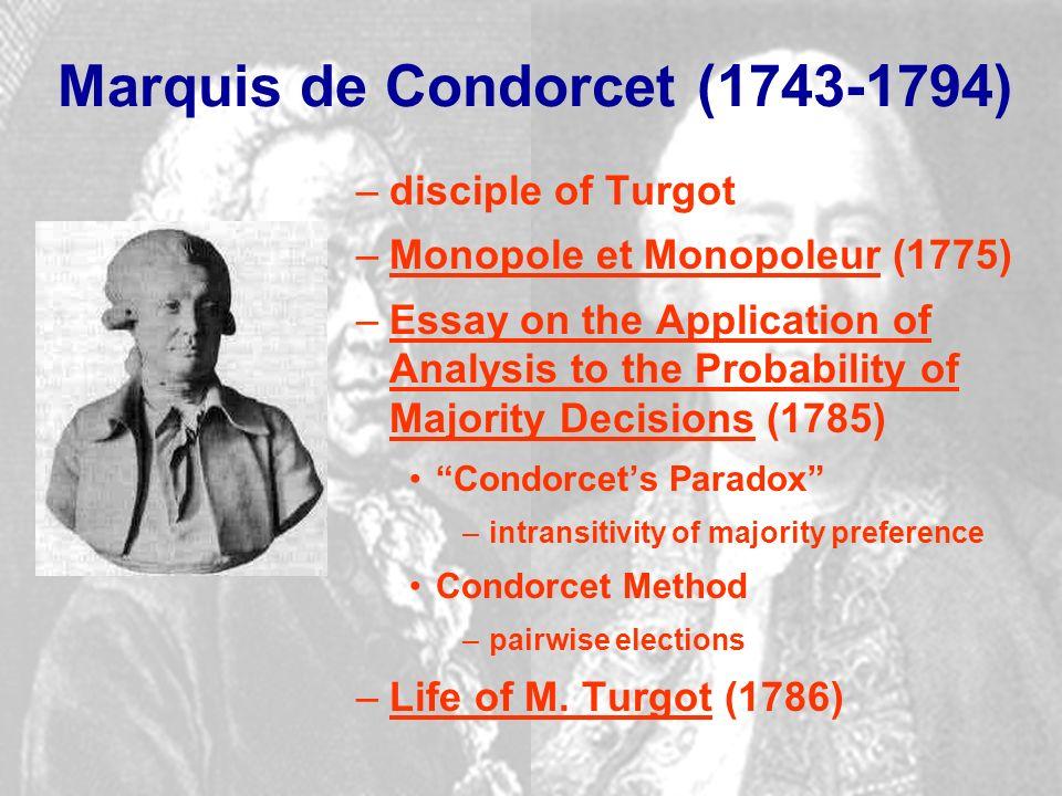 Condorcet essay progress