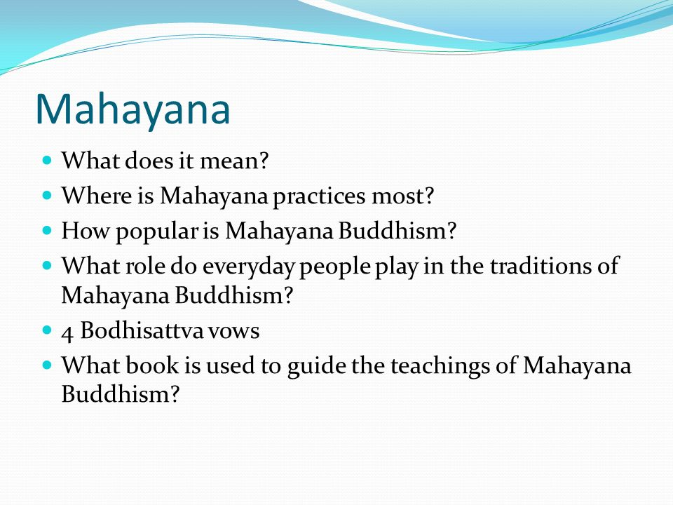 what role does the bodhisattva play in mahayana buddhism Despite the common assumption that the counterpart to mahayana is pre-mahayana buddhism bodhisattva central to mahayana play a role in many mahayana.