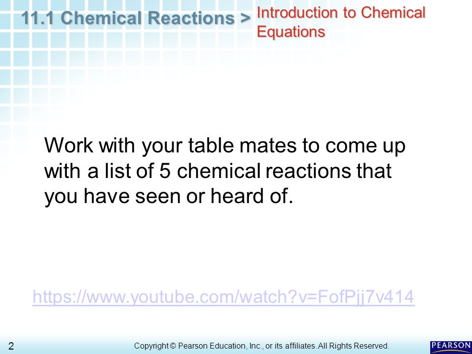 Chemical reactions chapter 11 worksheet answers