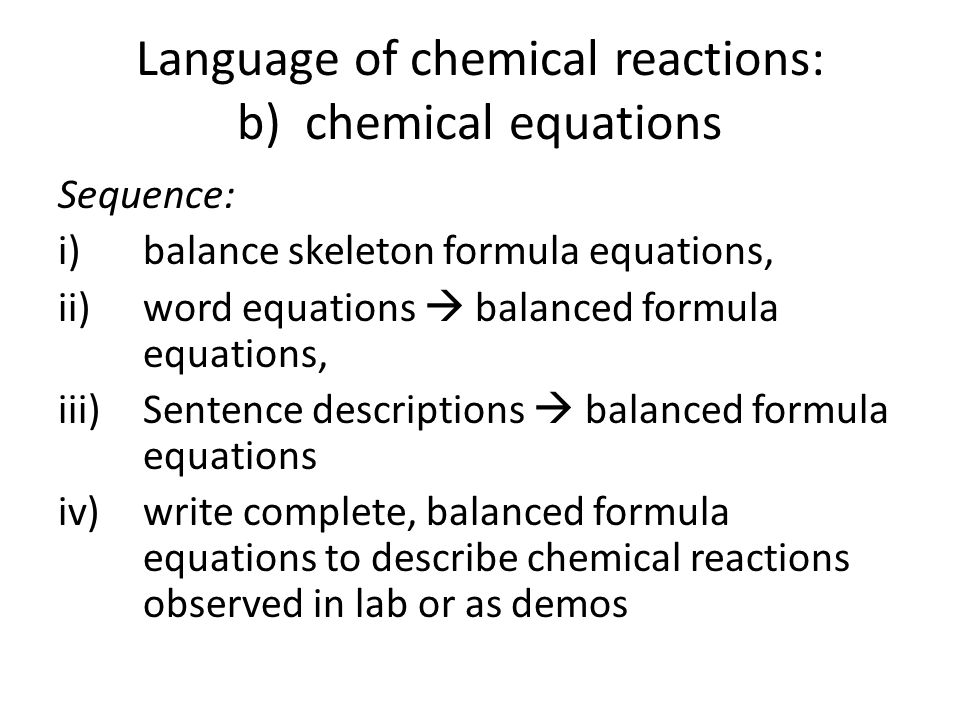 worksheet writing and balancing chemical reactions