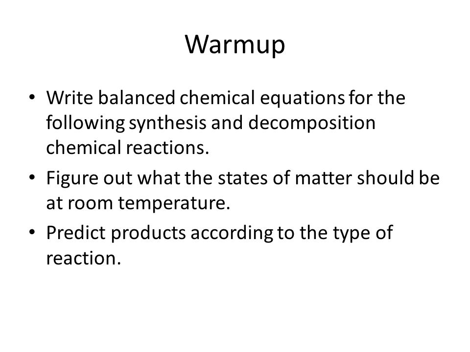 an analysis of the chemical reactions and the decomposition process Application of independent component analysis to chemical reactions striadaphillou, a j morris and e b martin centre for process analytics and control technology.