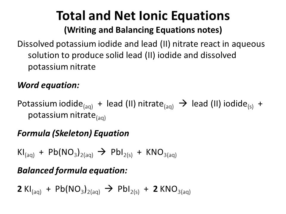 Balanced Chemical Equation For Hydrogen Peroxide And Potassium – Chemical Formulas and Equations Worksheet Answers