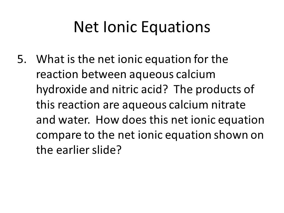 how to write a net ionic equation including phases
