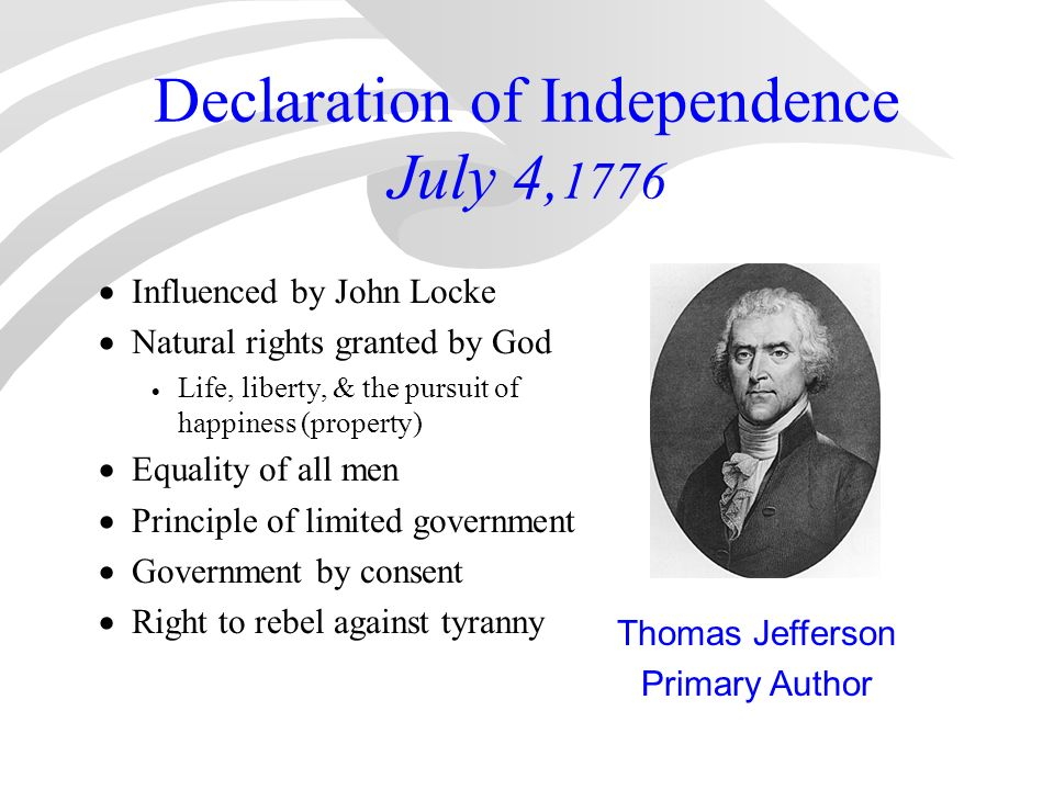 """the birth of liberty the declaration of independence by thomas jefferson """"where liberty or a person of high birth this is why when thomas jefferson writes the words of the declaration of independence."""
