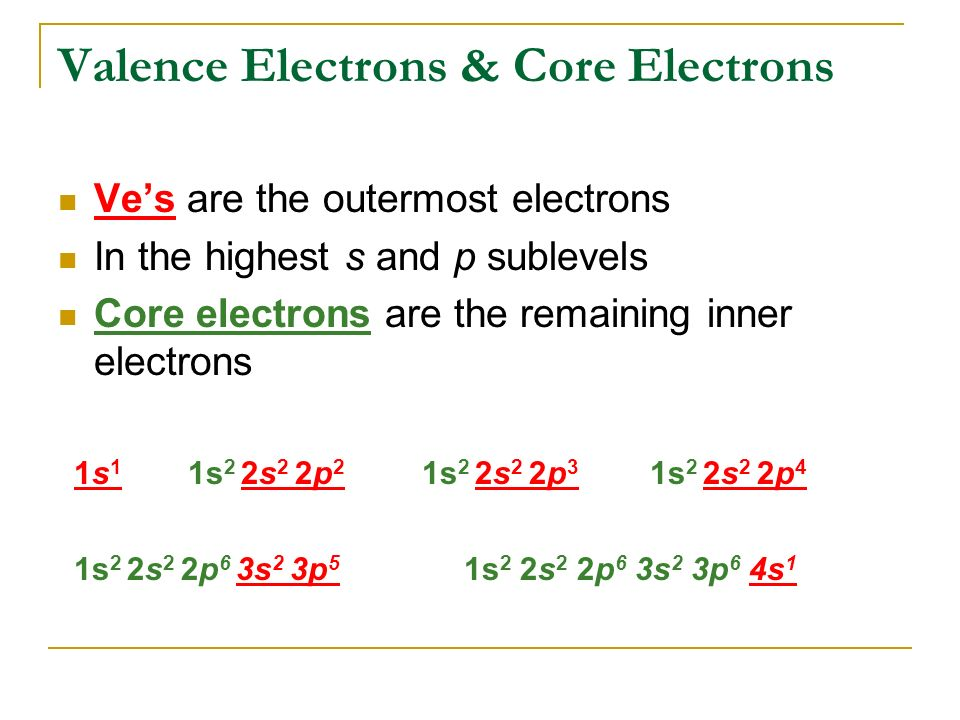how to find number of valence electrons for transition metals