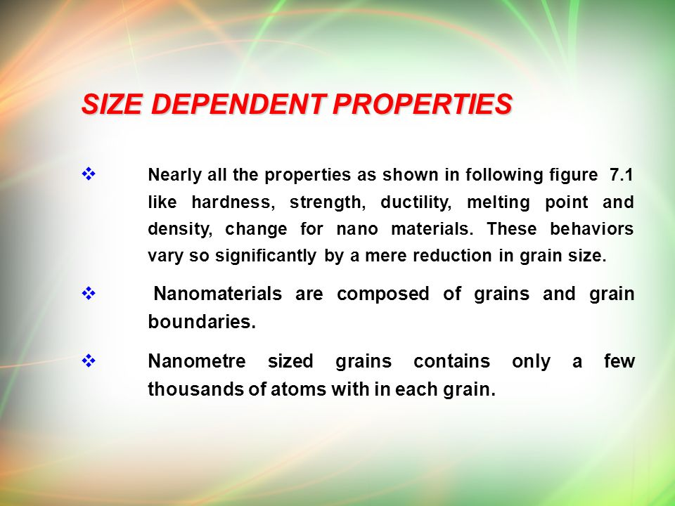 Chapter Vii Nano Chemistry Ppt Download