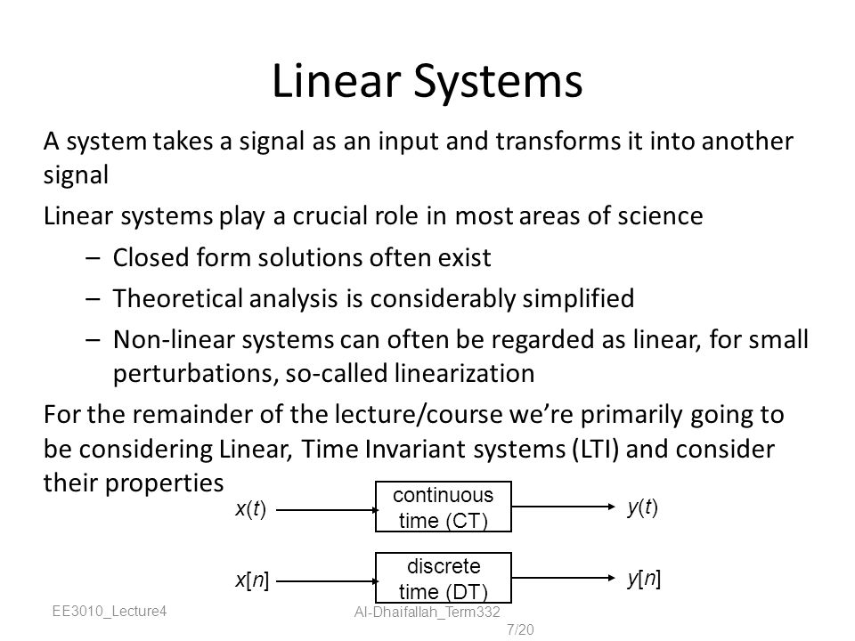 signals and linear system In signal processing, specifically control theory, bounded-input, bounded-output (bibo) stability is a form of stability for linear signals and systems that take inputs if a system is bibo stable, then the output will be bounded for every input to the system that is bounded.