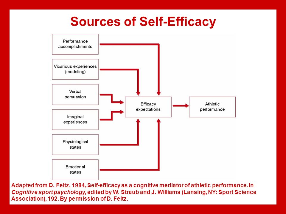 sport confidence according to bandura and Self-efficacy versus confidence according to albert bandura,  generalized self-efficacy (which differs from bandura's theory of self-efficacy).
