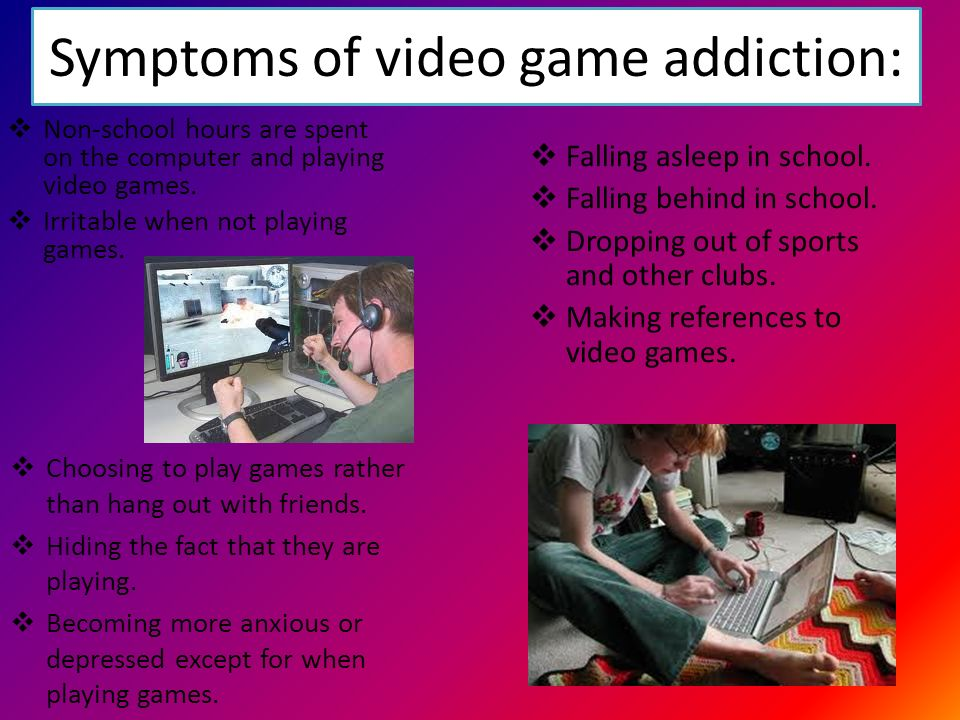 the different symptoms of online gaming addiction According to restart, the country's first residential treatment facility for internet addiction signs and symptoms of computer and internet/gaming addiction.