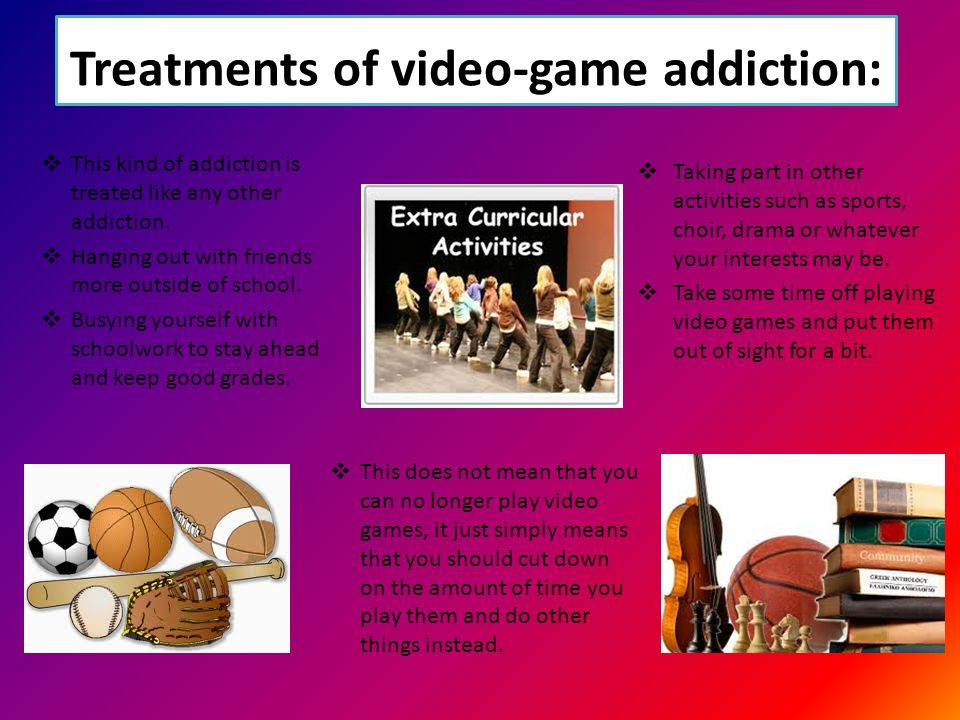 Video game addiction is no fun
