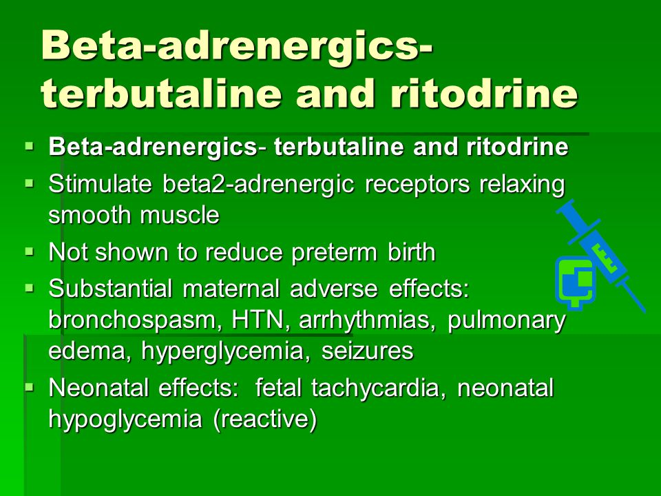 Terbutaline Injection To Stop Contractions