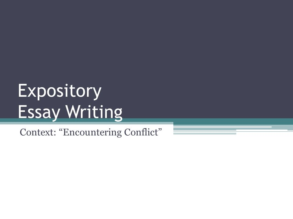 expository essay on conflict