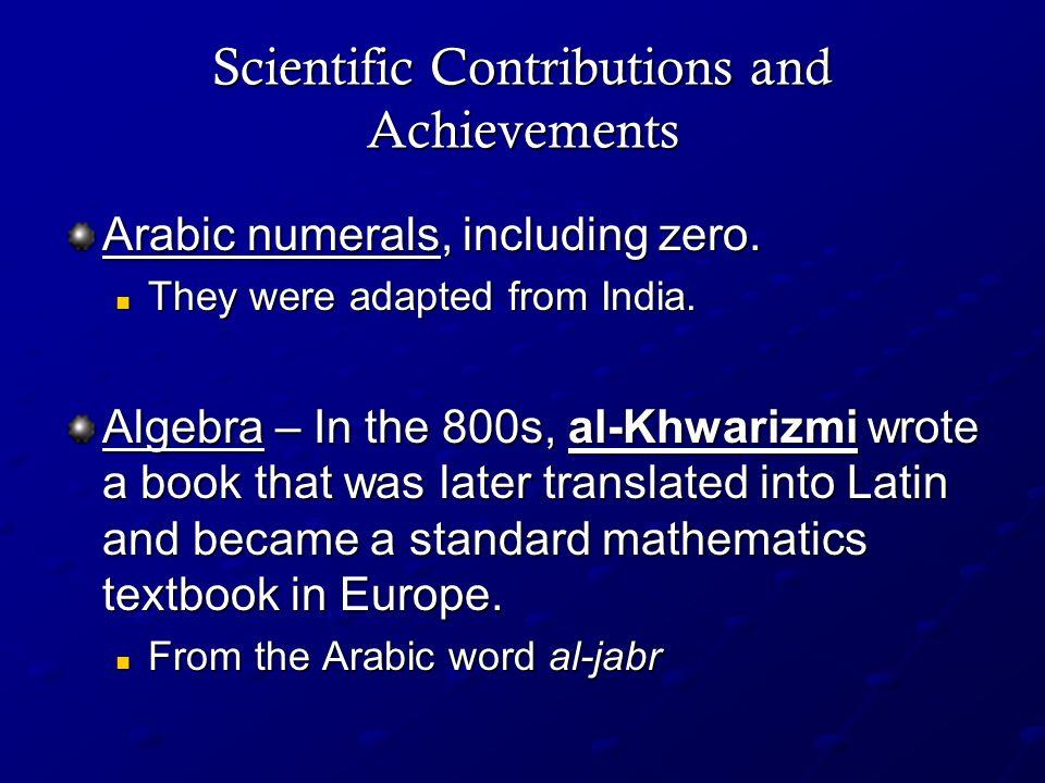 Scientific Contributions and Achievements