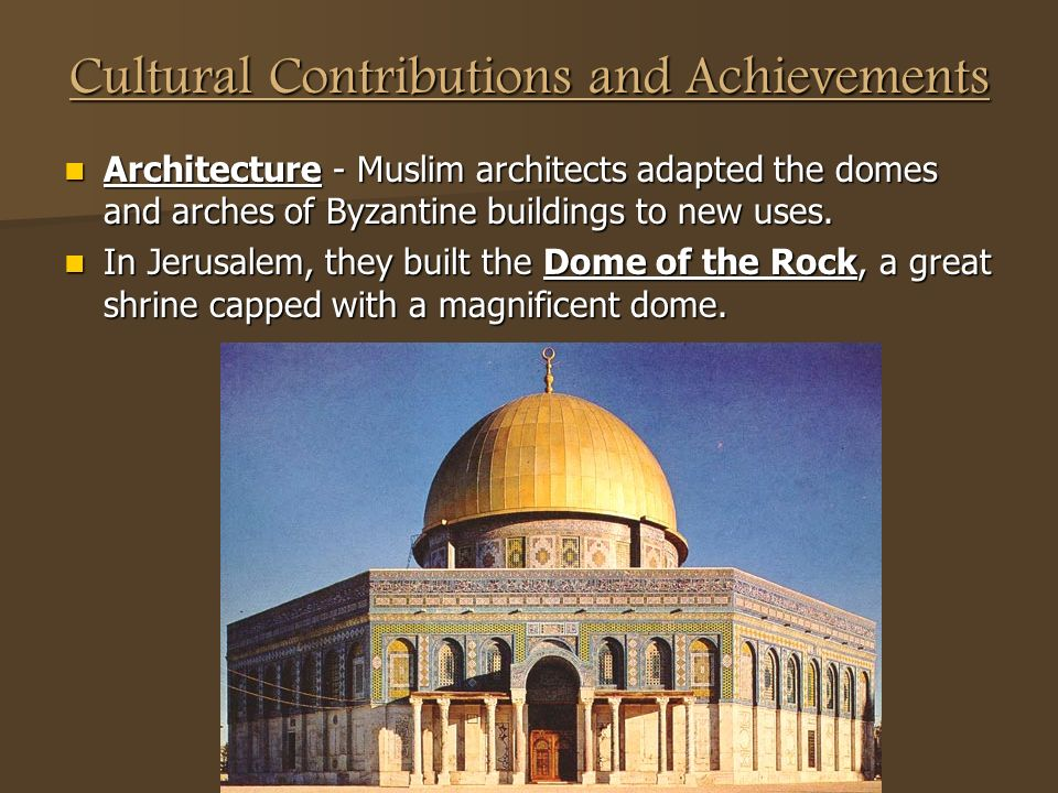 Cultural Contributions and Achievements