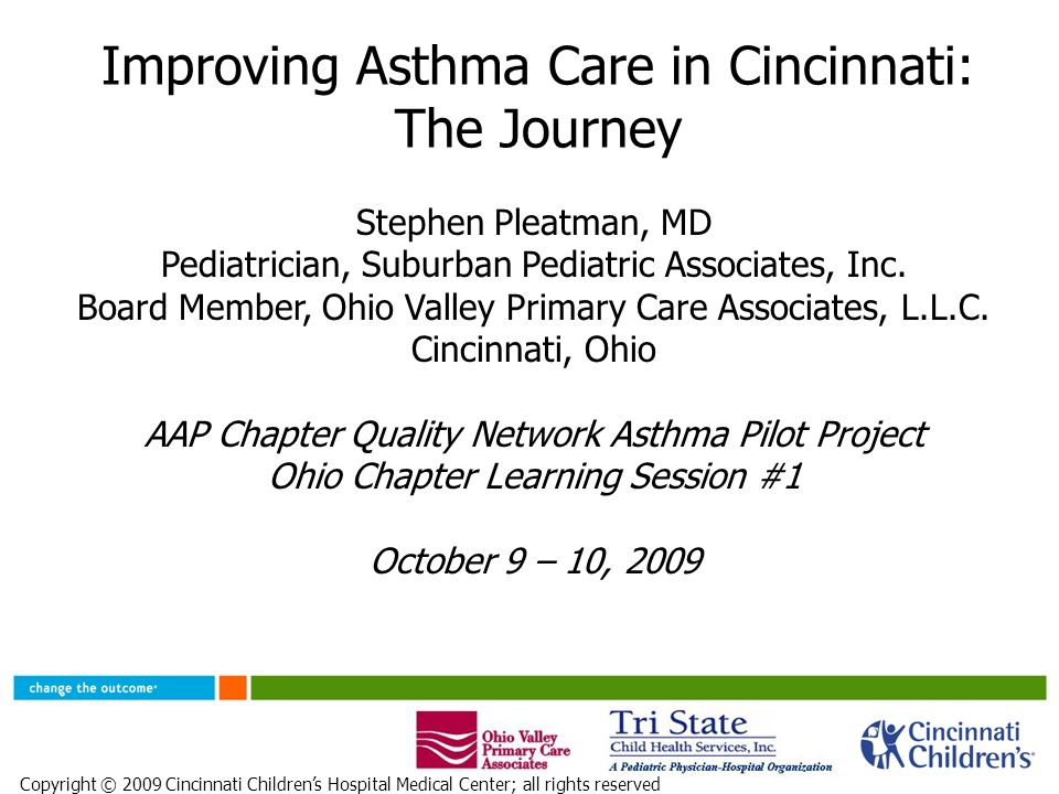 Improving Asthma Care In Cincinnati The Journey Ppt Video Online