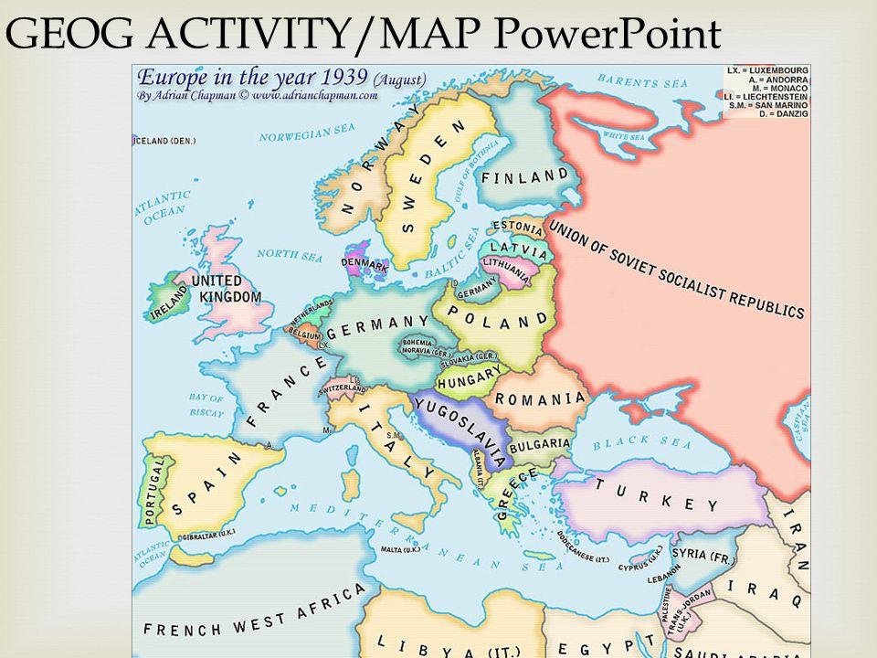 32 Geog Activity Map Powerpoint