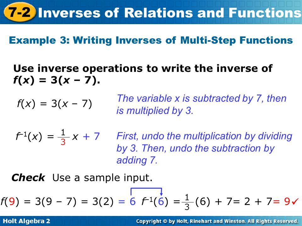 How to write inverse function