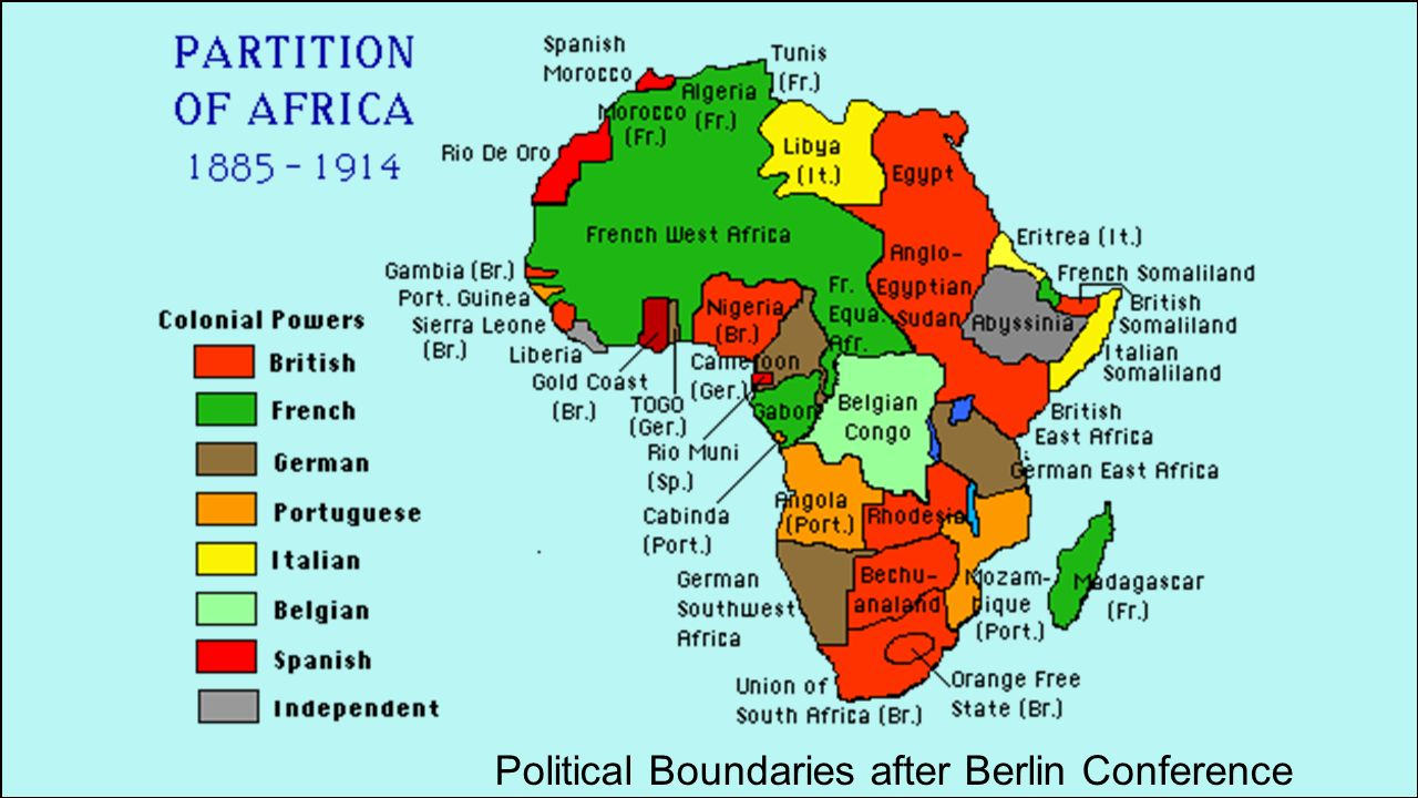 Political Boundaries after Berlin Conference