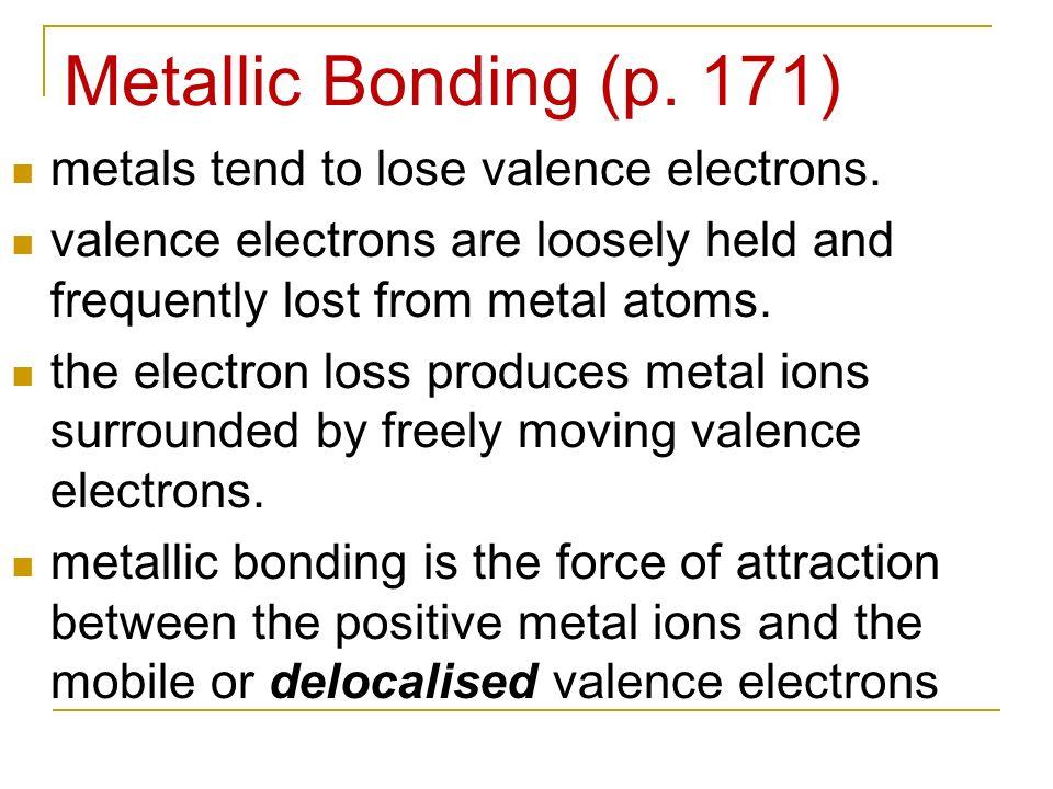 Unit 2 Chemical Bonding ppt video online download – Metallic Bonding Worksheet