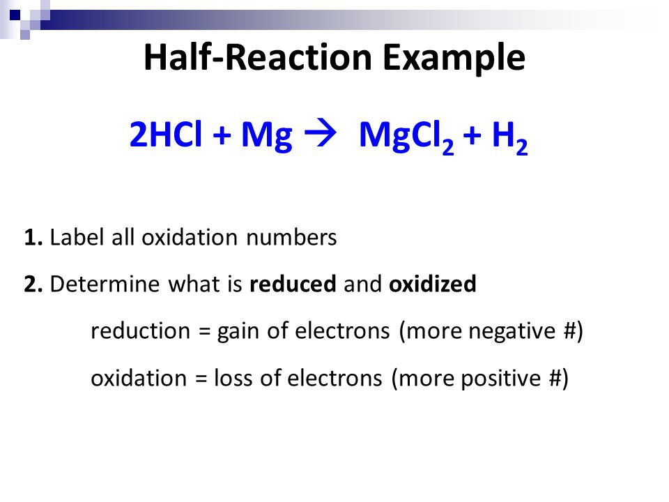 write a half reaction for the oxidation of manganese in mnco3