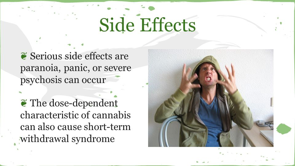 the severe effects of marijuana Webmd shows you how medical marijuana works where it's legal, what it's used for and what side effects it might cause  as a therapy for people with very severe or hard-to-treat seizures.