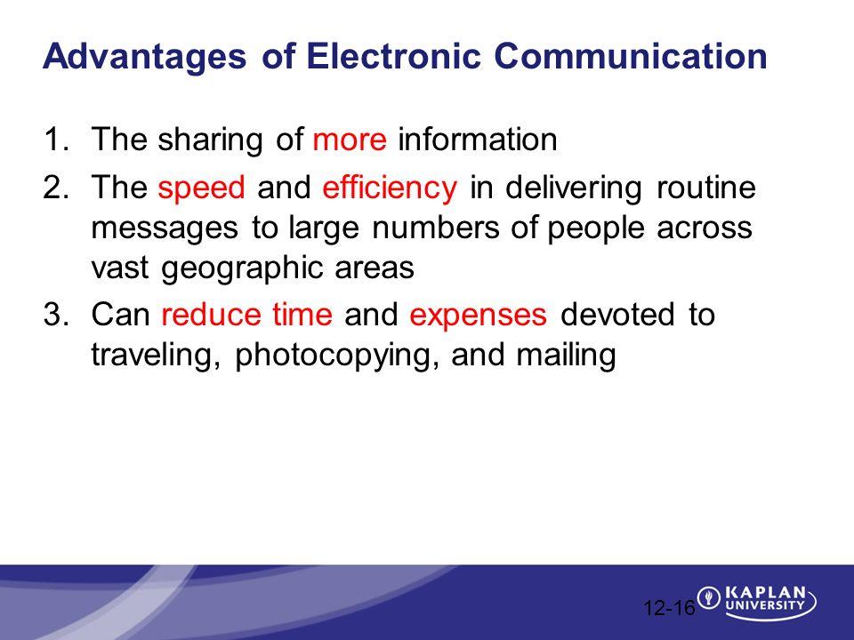 advantages and disadvantages of electronic communication pdf