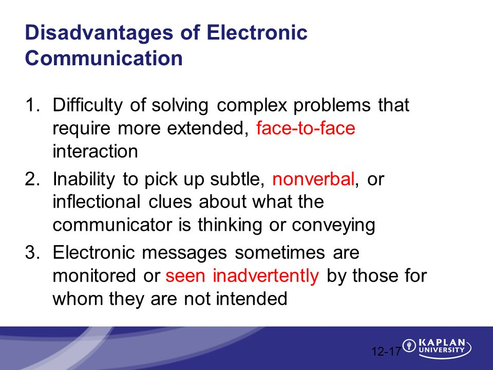 Advantages and Disadvantages of Electronic Communication