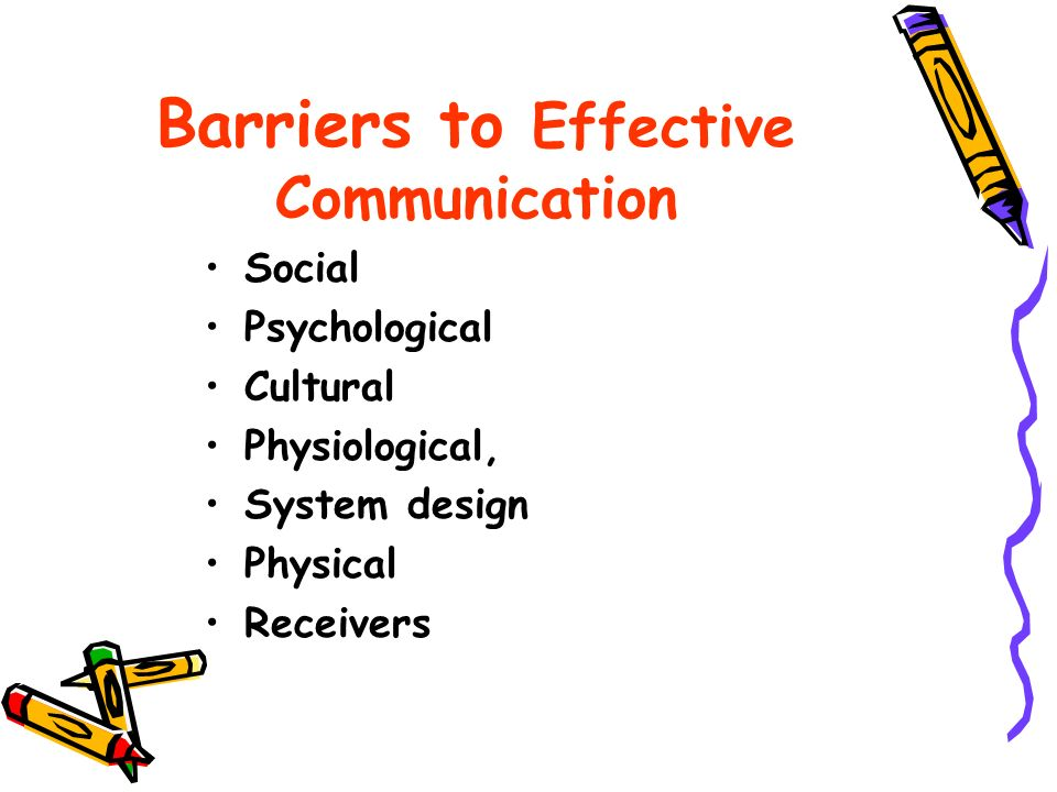 psychlogical barrier to communication essay example Healthcare - barriers to access extracts from this document introduction barriers to access: barriers ro access physical barriers: physical barriers for.