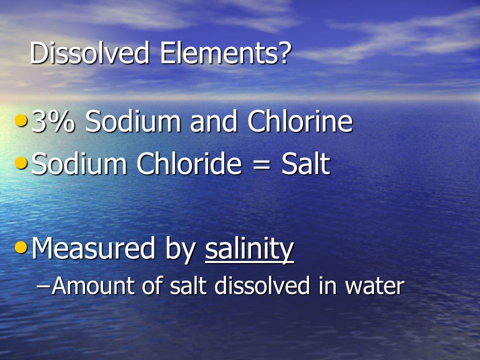 Chloride And Dissolved Oxygen In Natural Water
