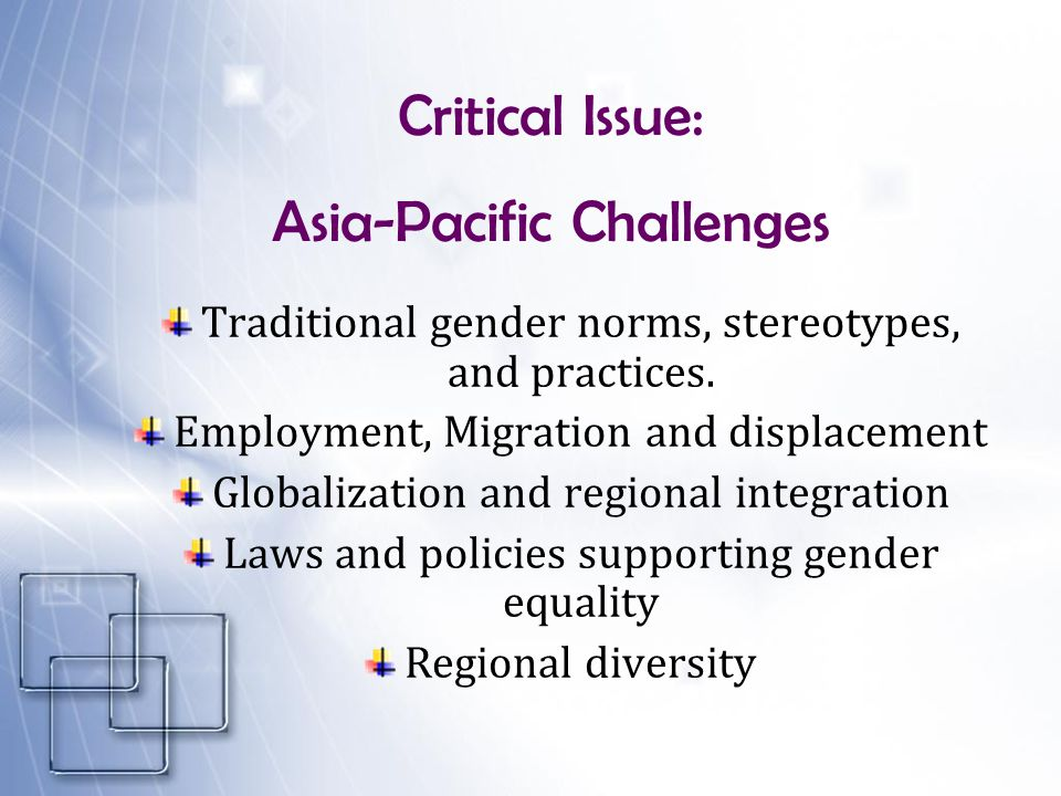 Asia-Pacific Challenges